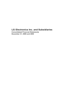 LG Electronics Inc annual report 2006