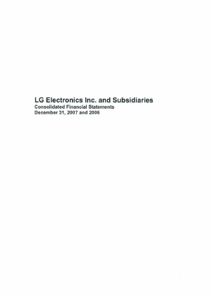 LG Electronics Inc annual report 2007