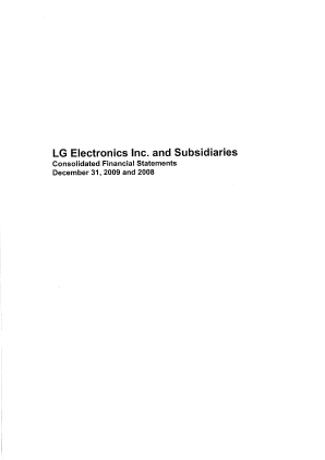 LG Electronics Inc annual report 2009