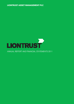 Liontrust Asset Management annual report 2011