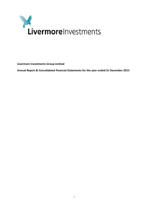 Livermore Investments Group annual report 2015