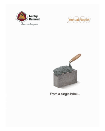 Lucky Cement annual report 2009