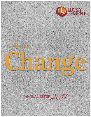 Lucky Cement annual report 2011