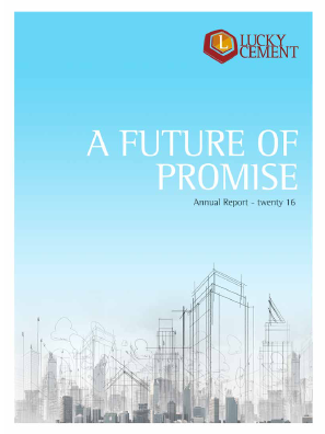 Lucky Cement annual report 2016
