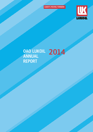 Lukoil annual report 2014