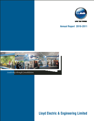 Lloyd Electric & Engineering annual report 2011