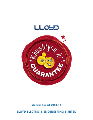 Lloyd Electric & Engineering annual report 2014