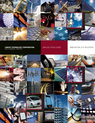 Linear Technology Corporation annual report 2010