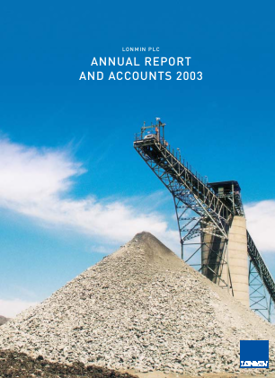 Lonmin annual report 2003