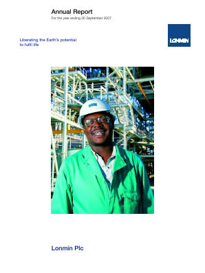 Lonmin annual report 2007