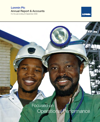 Lonmin annual report 2008