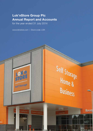 Lok'n Store Group annual report 2014
