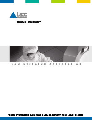 Lam Research Corporation annual report 2004