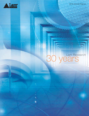 Lam Research Corporation annual report 2010