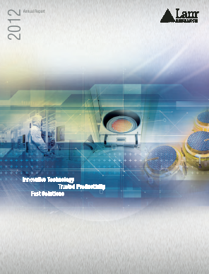 Lam Research Corporation annual report 2012