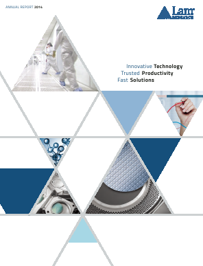 Lam Research Corporation annual report 2014