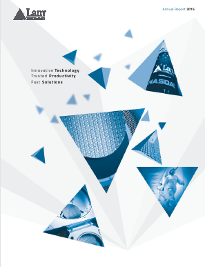Lam Research Corporation annual report 2015