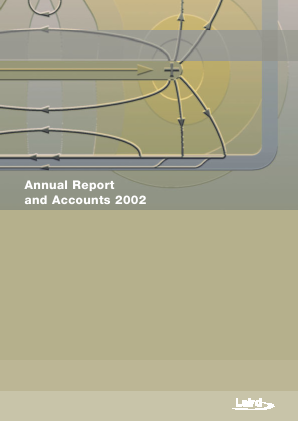 Laird Plc annual report 2002