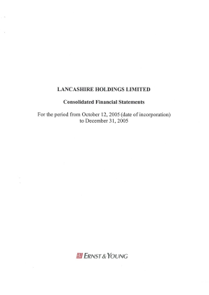 Lancashire Holdings annual report 2005