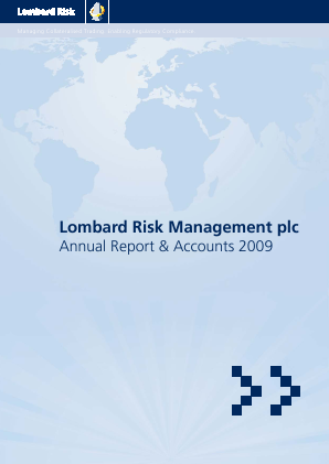 Lombard Risk Management annual report 2009
