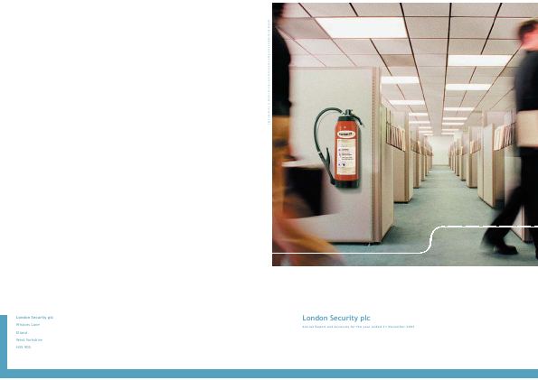 London Security Plc annual report 2003