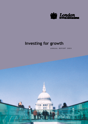 London Stock Exchange Group annual report 2003