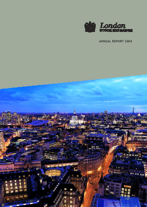 London Stock Exchange Group annual report 2004