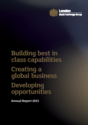 London Stock Exchange Group annual report 2013