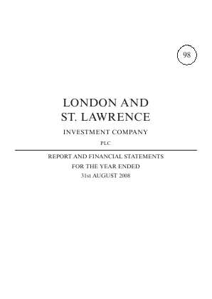 London & St Lawrence Investment annual report 2008