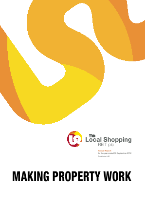Local Shopping Reit Plc(The) annual report 2012