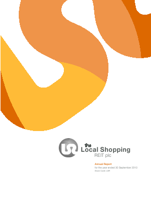 Local Shopping Reit Plc(The) annual report 2013