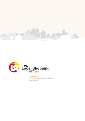Local Shopping Reit Plc(The) annual report 2014