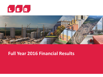 LSR Group PJSC annual report 2016