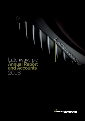 Latchways annual report 2008
