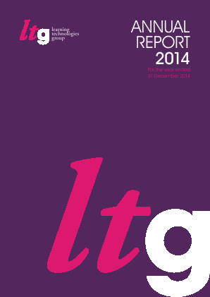 Learning Technologies Group Plc annual report 2014