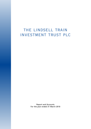Lindsell Train Investment Trust(The) annual report 2010