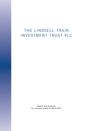 Lindsell Train Investment Trust(The) annual report 2011