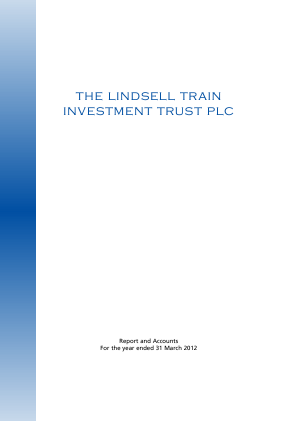 Lindsell Train Investment Trust(The) annual report 2012