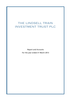 Lindsell Train Investment Trust(The) annual report 2013