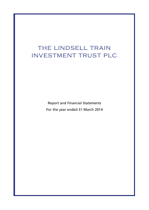Lindsell Train Investment Trust(The) annual report 2014