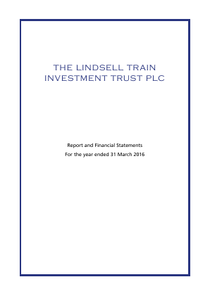 Lindsell Train Investment Trust(The) annual report 2016