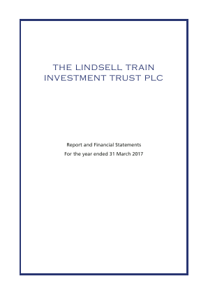 Lindsell Train Investment Trust(The) annual report 2017