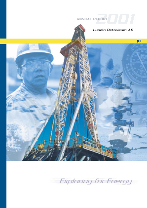 Lundin Petroleum annual report 2001