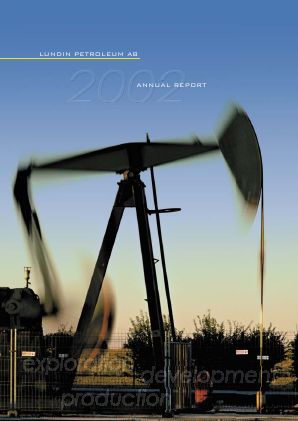 Lundin Petroleum annual report 2002