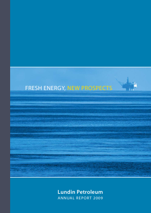 Lundin Petroleum annual report 2009