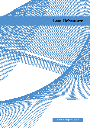 Law Debenture Corp annual report 2003