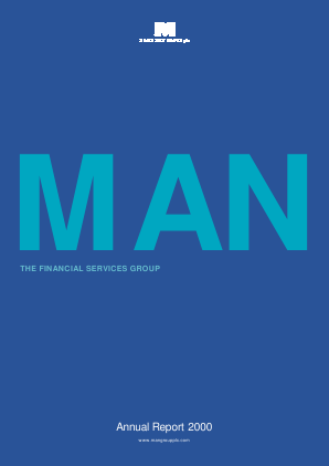 Man Group Plc annual report 2000