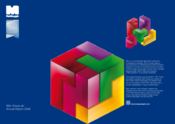 Man Group Plc annual report 2008
