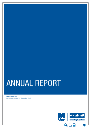 Man Group Plc annual report 2012