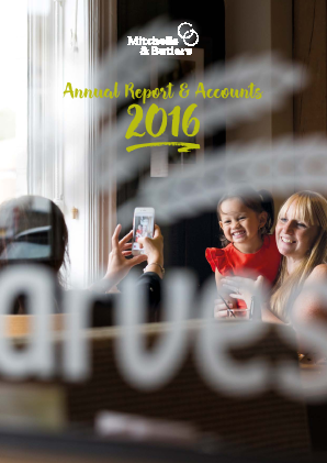 Mitchells & Butlers annual report 2016